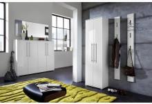 5tlg. Garderobenprogramm / Garderobenset - Weiß Hochglanz GM1250