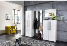 5tlg. Garderobenprogramm / Garderobenset - Weiß Hochglanz GM1251