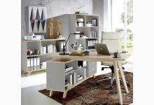 3tlg. Arbeits- & Bürozimmer - Steingrau Navarra-Eiche GM1287