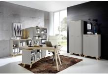 5tlg. Arbeits- & Bürozimmer - Steingrau Navarra-Eiche GM1288