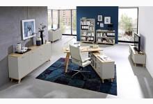 6tlg. Arbeits- & Bürozimmer - Steingrau Navarra-Eiche GM1289