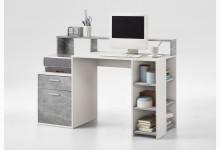 Schreibtisch Mod.F3006-001 Weiss Beton