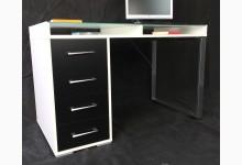 Schreibtisch - Arbeitstisch Weiß Schwarz T208