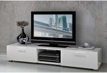 TV Lowboad Unterschrank Weiß Lack Hochglanz TV684