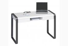 Schreibtisch - Arbeitstisch Metall Anthrazit Weiß Matt T211