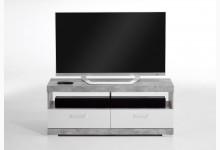 TV/Hifi Lowboard 120 cm Mod. F4020-005 Beton Weiß Edelglanz