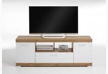 TV/Hifi Lowboard 160 cm Mod. F4020-006 Alteiche Weiß Edelglanz