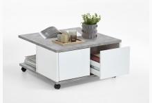 Couchtisch Mod. F659-001 Beton Weiß Edelglanz