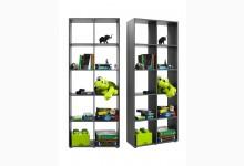 Bücherregal - Raumteiler Mod. R566_4 Silbereiche