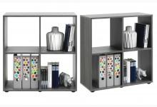 Bücherregal - Raumteiler Mod. R566_5 Silbereiche