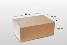 60er Faltkarton Versandkarton einwellig 280 x 240 x 105 mm