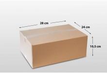 100er Faltkarton Versandkarton einwellig 280 x 240 x 105 mm