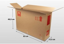 10x Faltkarton Versandkarton Karton Box 83 x 49,5 x 15,5 cm