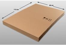 12x Kartonplatte 800 x 1120 mm Palettenzwischenlage Wellpappe Zuschnitt f Palette