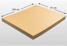12x Kartonplatte 910 x 1040 mm Palettenzwischenlage Wellpappe Zuschnitt f Palette