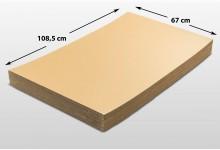 40x Kartonplatte 670 x 1085 mm Palettenzwischenlage Wellpappe Zuschnitt f Palette