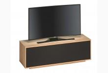TV Ablage Lowboard Sonoma-Eiche - Akustikstoff Schwarz TV698