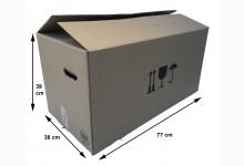 10x Umzugskarton - Faltkarton doppelwellig 770 x 390 x 380 mm