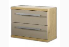 Hänge - Kommode - Nachtkommode mit 2 Schubladen 60 cm breit Raucheiche Mokka K758