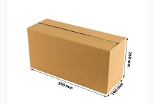 40x Faltkarton - Versandkartons - Umzugskartons einwellig 550 x 260 x 190 mm