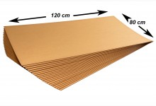 10x Kartonplatte 1200x800 mm Palettenzwischenlage Wellpappe Zuschnitt für Europalette