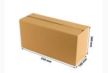 75x Faltkarton - Versandkartons - Umzugskartons einwellig 550 x 260 x 190 mm