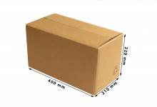 37x Faltkarton - Versandkartons doppelwellig 400 x 220 x 210 mm