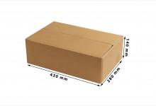 40x Faltkarton - Versandkartons doppelwellig 430 x 140 x 280 mm