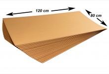 200x Kartonplatte 1200x800 mm Palettenzwischenlage Wellpappe Zuschnitt für Europalette