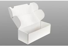 50x Faltkarton - Versandkartons Weiß 224x89x74 mm