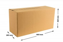 40x Faltkarton - Versandkartons - Umzugskartons einwellig 460 x 365 x 285 mm