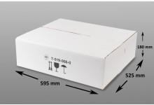10x Faltkarton - Versandkartons Weiß 595 x 525 x 180 mm