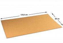 50x Kartonplatte 280x1105 mm Palettenzwischenlage Wellpappe Zuschnitt f Palette