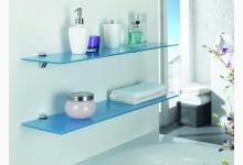 2er Wandregal - Set Glas Blau