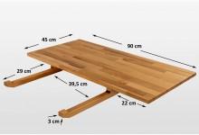 2er Set Ansteckplatten für Esstisch 90cm breit Buche Massiv