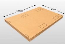 10x Kartonplatte 800 x 1200 mm extra verhärtet Palettenzwischenlage Wellpappe Zuschnitt für Europalette