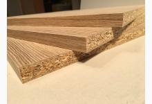 2er Set Einlegeboden - Zwischenboden - Holzzuschnitt Sonoma Eiche 362 x 355 x 16 mm