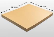 15x Kartonplatte 925 x 795 mm eine Seite extra verhärtet Palettenzwischenlage Wellpappe Zuschnitt für Europalette