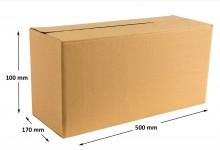 20x schmale Faltkarton - Versandkartons einwellig 500 x 100 x 170 mm