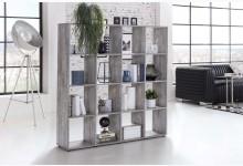 Raumteiler 16 Fächer Aktenregal Standregal Regal 138,5 cm breit Beton W158