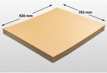 15x Kartonplatte 765 x 920 mm Palettenzwischenlage Wellpappe Zuschnitt f Palette
