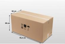 10x Umzugskarton - Faltkarton doppelwellig 765 x 380 x 380 mm
