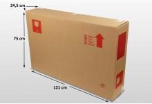 5x Fahrrad Fernseher Karton Box Large 121 x 75 x 24,5 cm