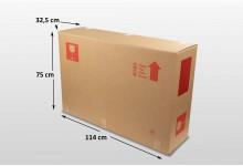 5x Fahrrad Fernseher Karton Box Large 114 x 75 x 32,5 cm Faltkarton Umzugskarton