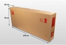 5x Fahrrad Fernseher Karton Box Large 178 x 78 x 26 cm Faltkarton Umzugskarton