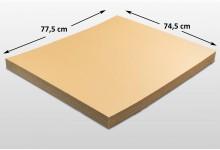 50x Kartonplatte 745 x 775 mm Palettenzwischenlage Wellpappe Zuschnitt f Palette