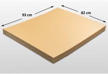 15x Kartonplatte 820 x 930 mm verhärtet Palettenzwischenlage Wellpappe Zuschnitt f Palette