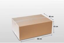 15x Faltkarton Versandkarton doppelwellig 580 x 380 x 230 mm