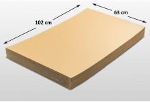 25x Kartonplatte 630 x 1020 mm verhärtet Palettenzwischenlage Wellpappe Zuschnitt f Palette