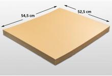 100x Kartonplatte 525 x 545 mm verhärtet Palettenzwischenlage Wellpappe Zuschnitt f Palette